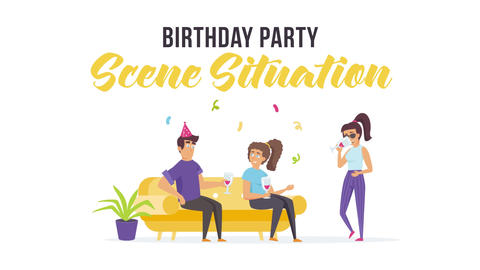 Birthday party - Scene Situation Plantilla de After Effects