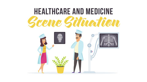 Healthcare and medicine - Scene Situation After Effects Template