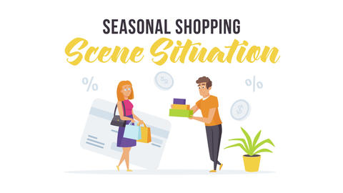 Seasonal shopping - Scene Situation After Effects Template