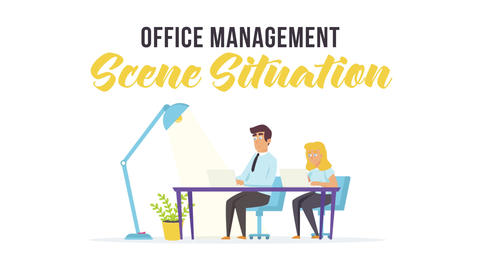 Office management - Scene Situation Plantilla de After Effects