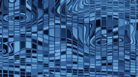 Blue mosaic composed of shards in different shades of blue color. The blue color Animation