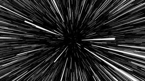 Traveling at speed of light in dark space in 3D Videos animados