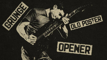 Grunge Old Poster Opener After Effects Template