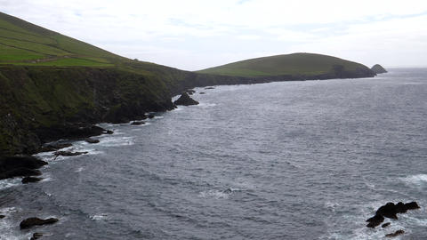 Blasket islands of Ireland pan Live Action