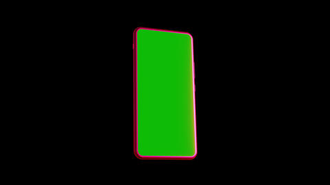 Smartphone with a green screen Animation