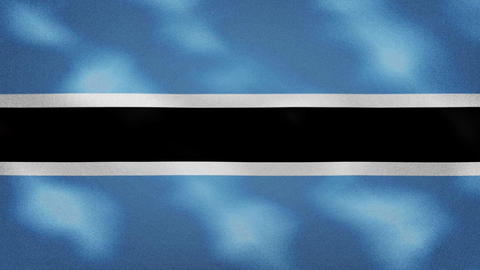 Botswana dense flag fabric wavers, background loop Animation