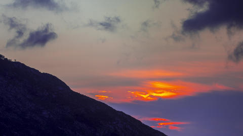 Day to night timelapse video of the Picos Mountains, Spain Live Action