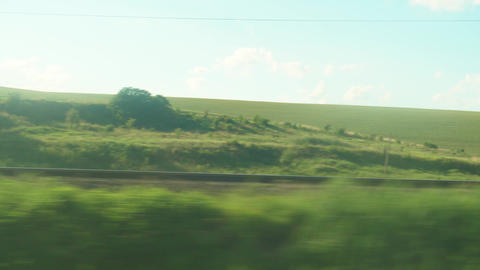 Transport, travel, road, railway, landscape, comnication concept - view from the Live Action