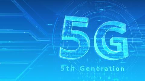 5G Digital Network technology 5th generation mobile communication concept background 47 blue 1 Animation