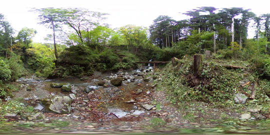 【360VR】Nine Head Dragon Falls from far, Tokyo, Japan Video de realidad virtual (RV) en 360°