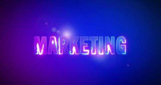 Marketing. Electric lightning words. Logotype Animation