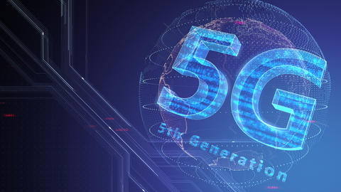 5G Digital Network technology 5th generation mobile communication concept background 47 gray 3 Animation