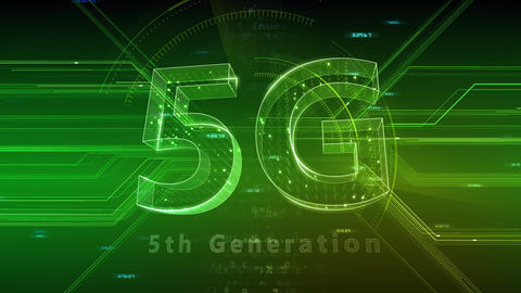5G Digital Network technology 5th generation mobile communication concept background 47 green 2 CG動画