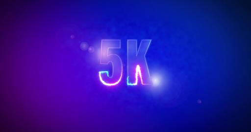 5K. Electric lightning words. Logotype. 1000 Animation