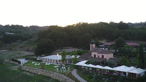 Aero video shooting, Italian country restaurant Live Action