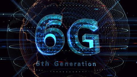 6G Digital Network technology 6th generation mobile communication concept background 47 blue 3b Animation
