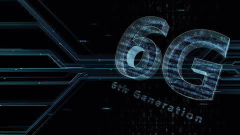 6G Digital Network technology 6th generation mobile communication concept background 47 gray 1 Animation