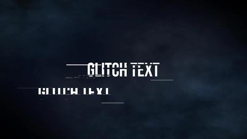 Glitch テキスト モーショングラフィックステンプレート