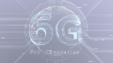 6G Digital Network technology 6th generation mobile communication concept background 47 gray 3 CG動画