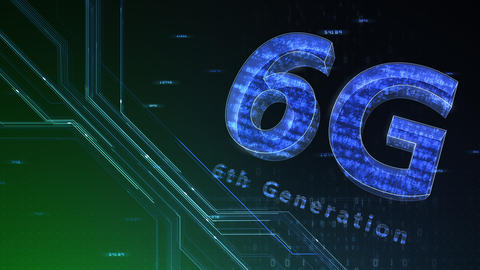 6G Digital Network technology 6th generation mobile communication concept background 47 green 1 Animation