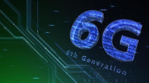 6G Digital Network technology 6th generation mobile communication concept background 47 green 1 CG動画