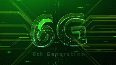6G Digital Network technology 6th generation mobile communication concept background 47 green 2 Animation