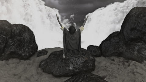 Moses Dividing the Sea in the Crossing of the Red Sea Live Action