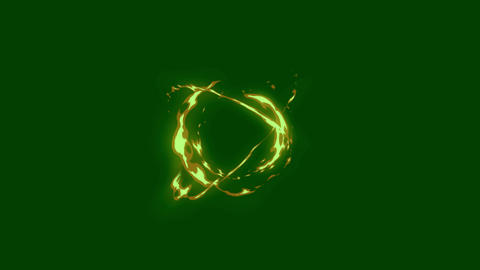 Fire atomic motion with green screen background Animation