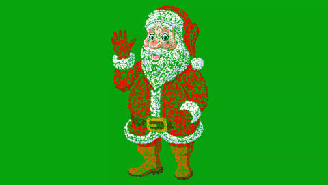 Santa claus motion graphics with green screen background CG動画