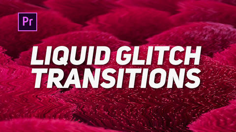 Liquid Glitch Transitions Plantillas de Premiere Pro
