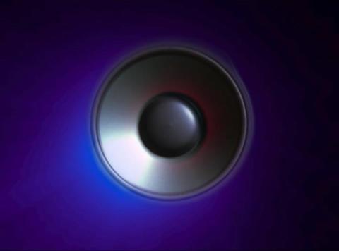 Speaker red Pulse Stock Video Footage