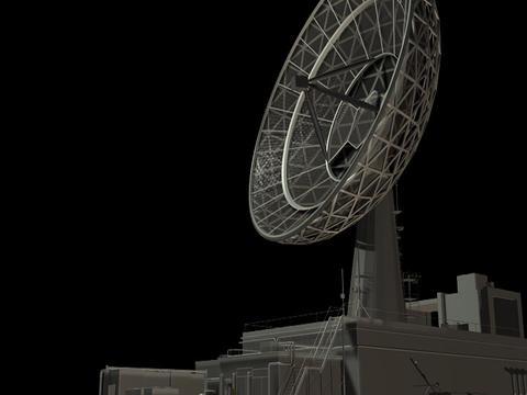 Radio Telescope Loop1 Stock Video Footage