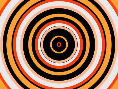 Radio Circles Orange stock footage