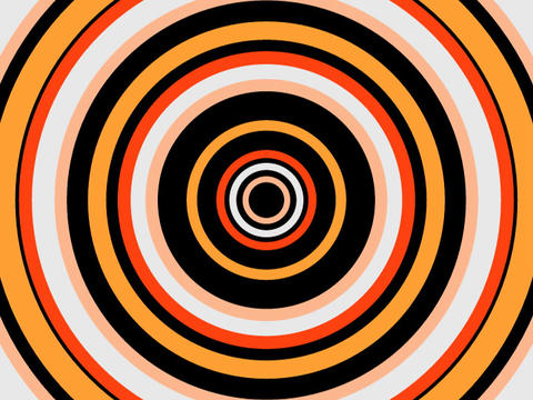 Radio Circles Orange Stock Video Footage