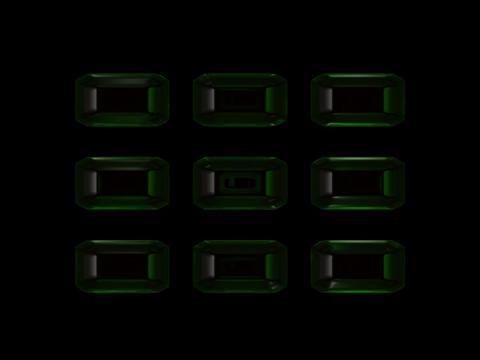 Emeralds nine Stock Video Footage
