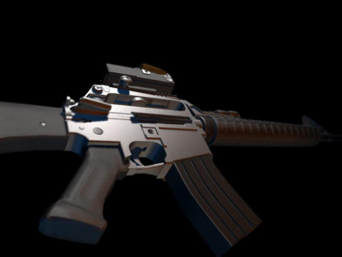Rifle gun M16 e Animation