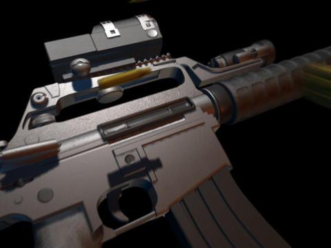 Rifle gun M16 e Stock Video Footage