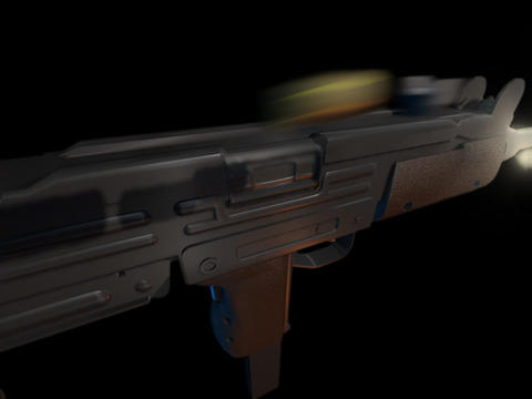 Machine gun UZI a Animation