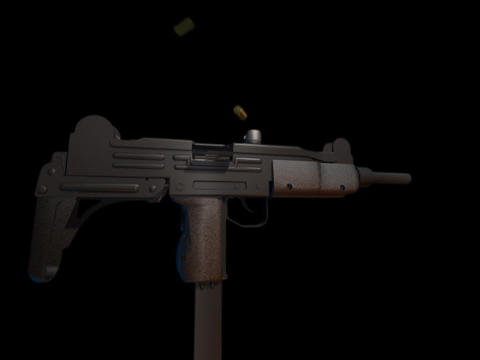 Machine gun UZI a Stock Video Footage