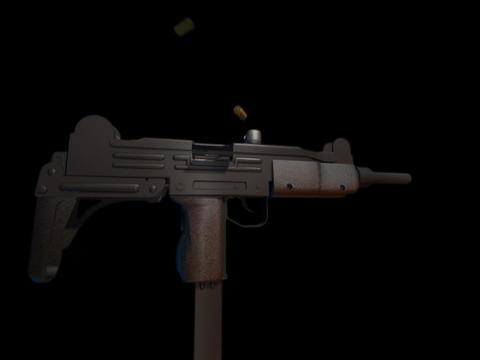Machine gun UZI a Stock Video Footage