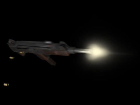 Machine gun UZI c Animation