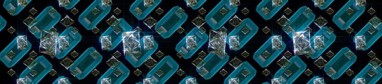 Blue Ruby Diamond Array Stock Video Footage