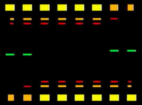 Eq Cube trace(L) Stock Video Footage