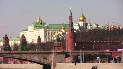 kremlin moscow and construction city Footage