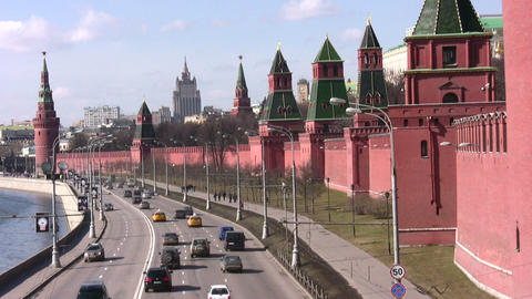 moscow kremlin wall Stock Video Footage