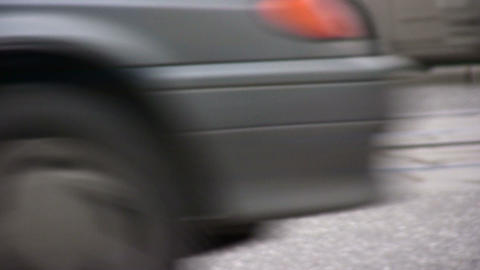 cars on road closeup Stock Video Footage
