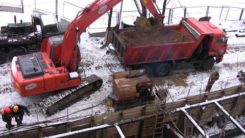 excavator Stock Video Footage