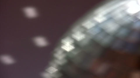 mirror ball out of focus Stock Video Footage