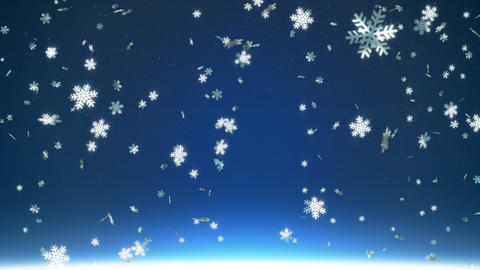 Falling snowflakes Stock Video Footage