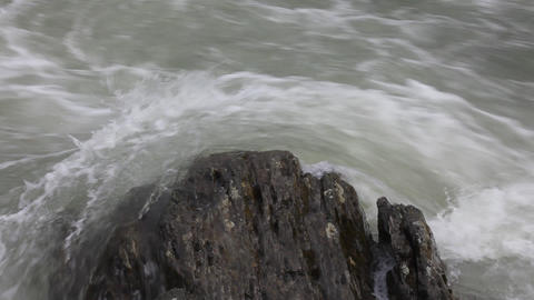 Rock and water Stock Video Footage